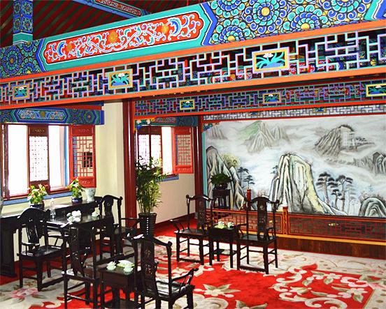 公司接待宴会厅古建装饰竣工